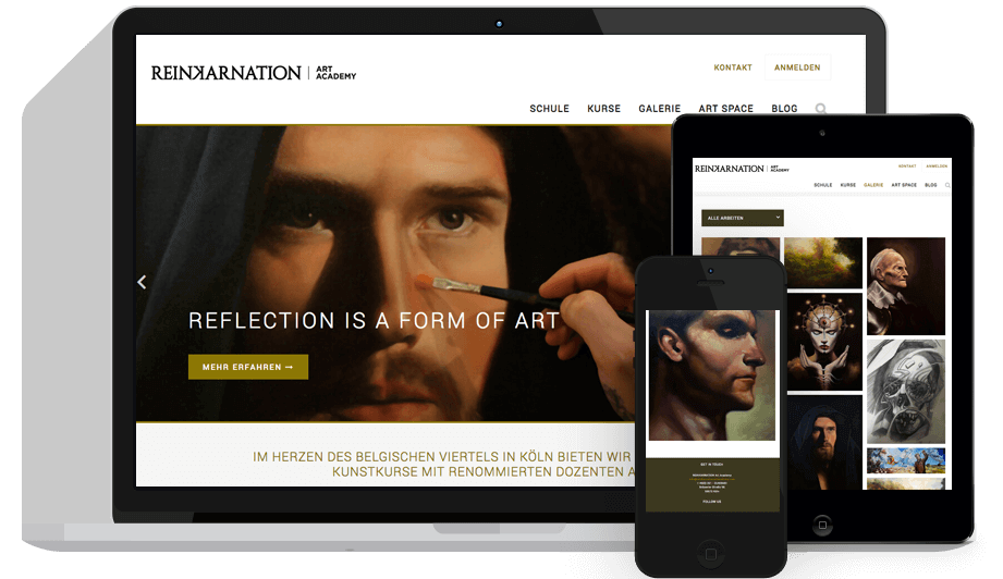 Webdesign Reinkarnation Art Academy