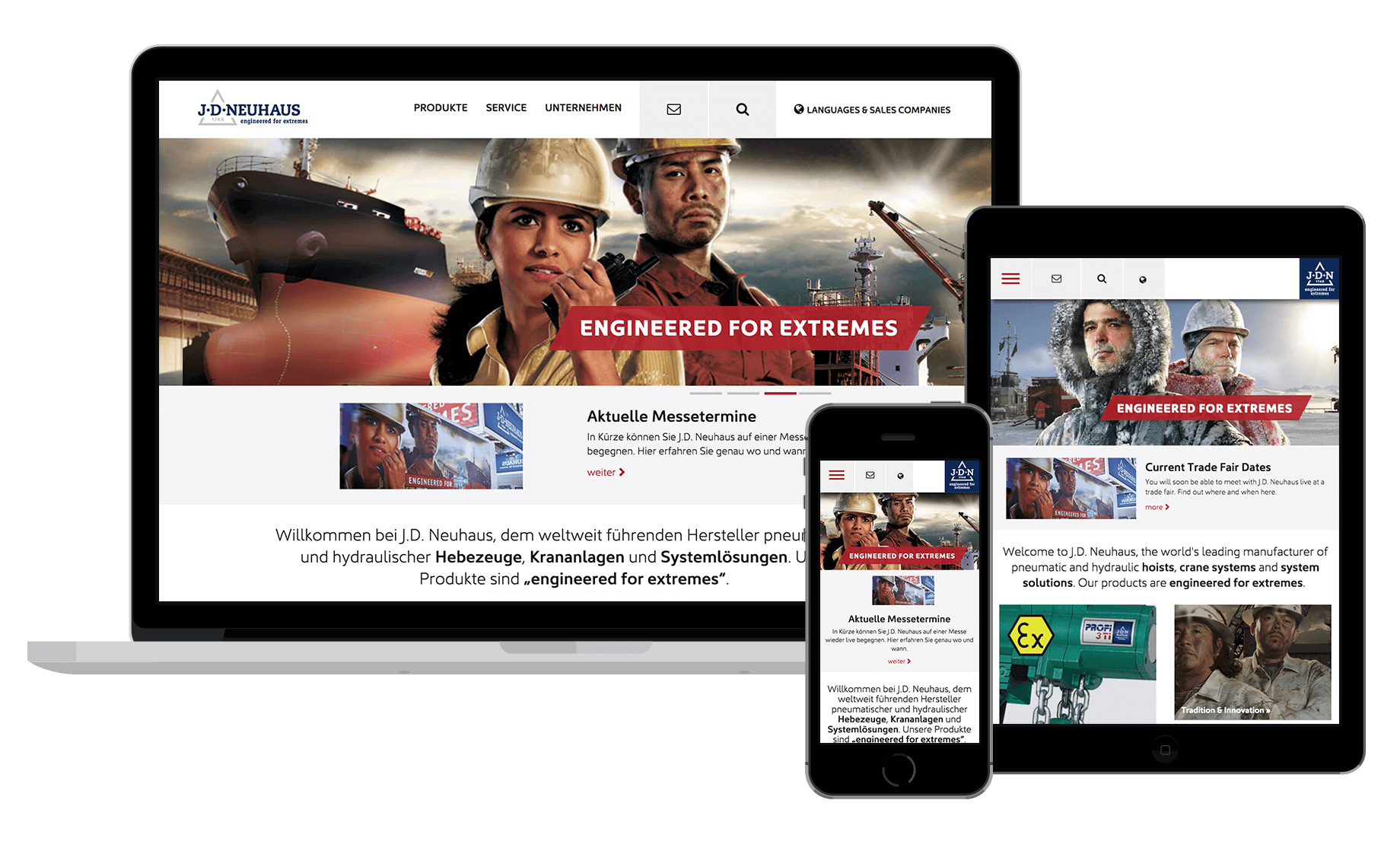 Responsive JDN Website in 10 Sprachen